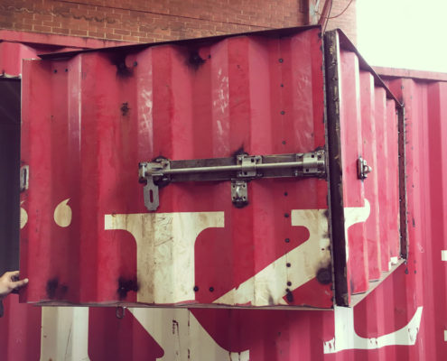 welded shipping container